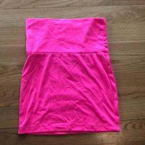 Hot pink body con skirt